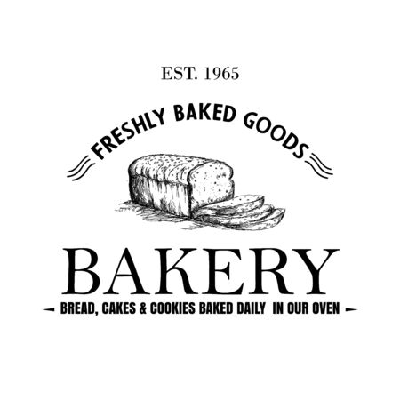 Stylish retro Bakery Logo printable vector