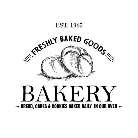 Stylish retro Bakery Logo printable vector