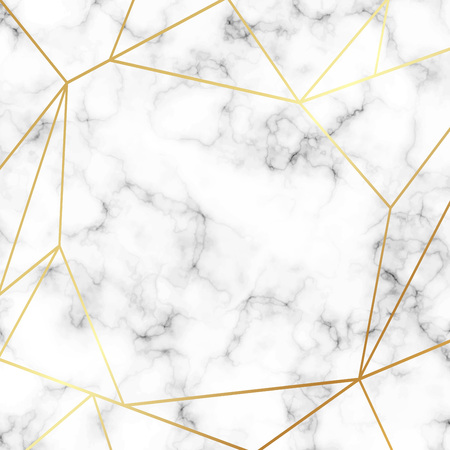 Beautiful marble background with gold lines vector 版權商用圖片 - 113407304