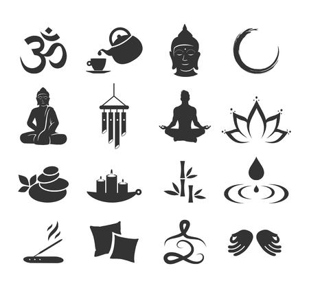 Zen icon set vector