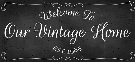 Beautiful Vintage Welcome Sign for stylish home design and decoration vector