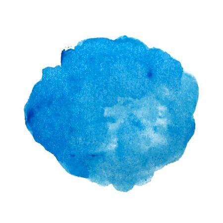 Blauwe aquarel vlek vector Vector Illustratie