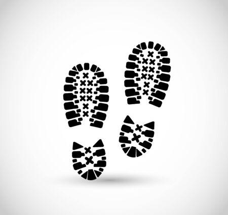 Sport shoe print vector 스톡 콘텐츠 - 139551941