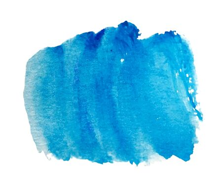 Blue watercolor stain vector