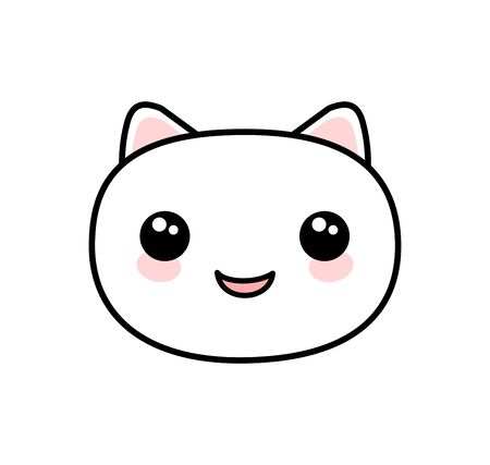 Kawaii style cute cat vector Illustration