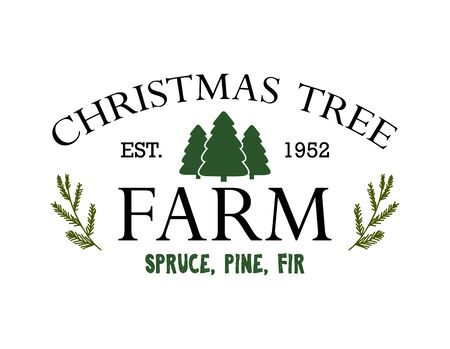 Vintage sign for Christmas Tree Farm vector