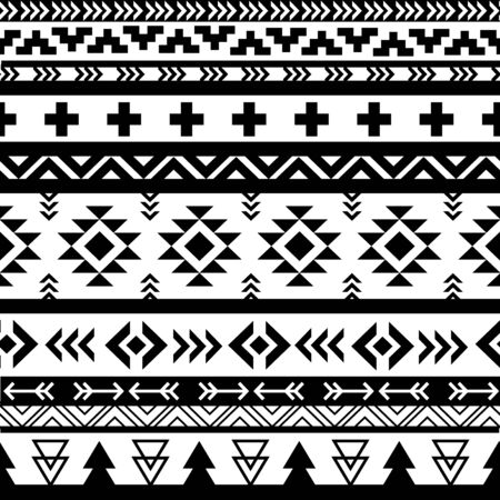 Beautiful aztec vector seamless pattern Illustration