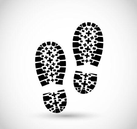 Shoe print vector Illustration