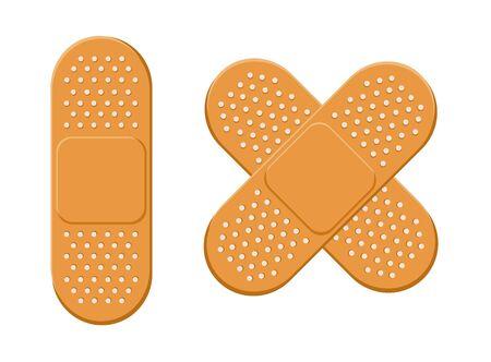 Plaster, bandage vector set