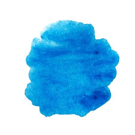 Blauer Aquarellfleckvektor