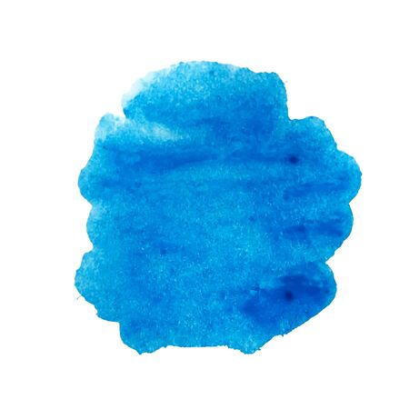Vector de mancha de acuarela azul