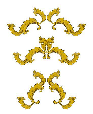 Thai Decorative elements vector set Фото со стока - 139552065