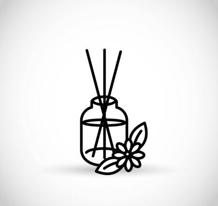 Essential oils diffuser - vector thin line icon