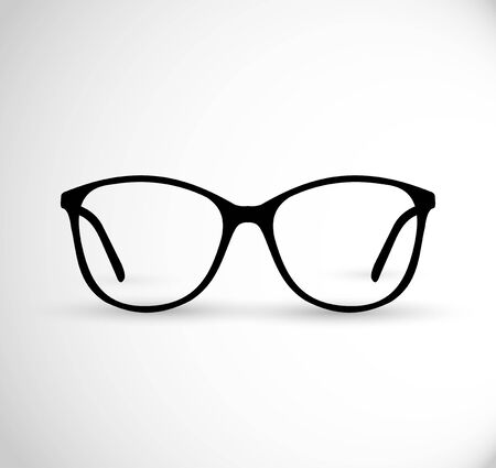 Realistic hipster, contemporary glasses frames vector