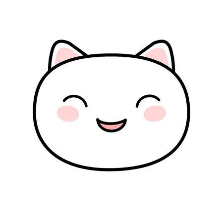 Kawaii style cute cat vector Ilustracja