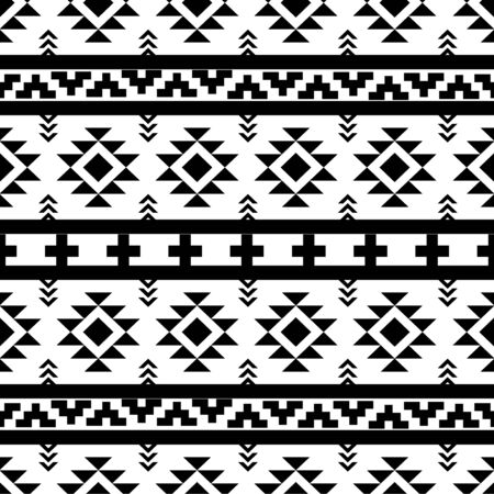 Beautiful aztec vector seamless pattern Ilustracja