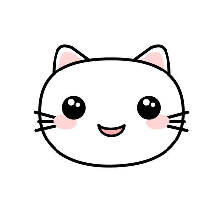 Kawaii style cute cat vector Ilustracja
