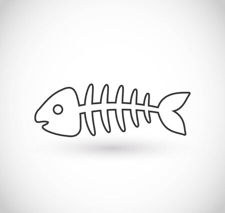 Fishbone icon vector Ilustrace