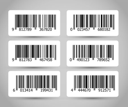 Barcode vector graphic illustration Ilustracja