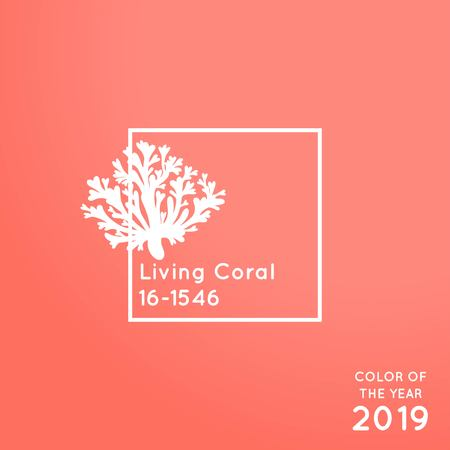 Color of the year 2019 Living Coral vector