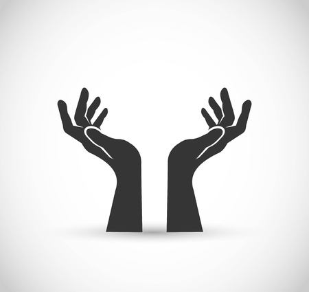 Two hands vector icon