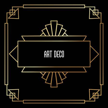 Beautiful Art Deco vector template