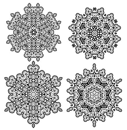Beautiful round vintage lace round decoration vector