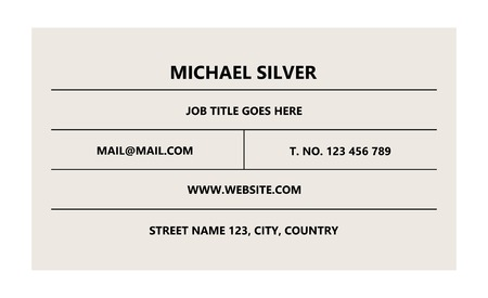 Minimalistic business card template set vector Ilustracja