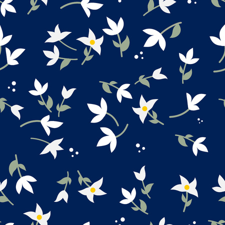 Beautiful floral seamless pattern vector  イラスト・ベクター素材
