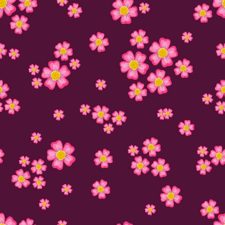 Beautiful seamless ditsy pattern with little flowers vector Ilustracja