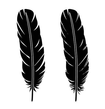 Feather icon vector set illustration Ilustração