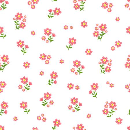 Beautiful seamless ditsy pattern with little flowers vector Ilustração
