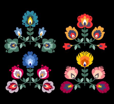 Vecteur d'élément décoratif folklorique polonais Vecteurs