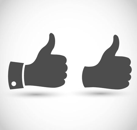 Thumbs up vector icon set