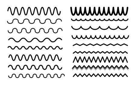 Decorative wave divider vector collection Ilustracja