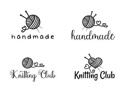 Beautiful Handamade logo set vector Ilustração