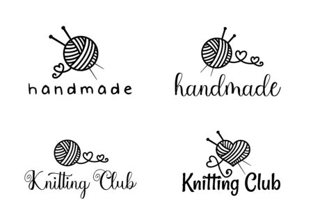 Beautiful Handamade logo set vector Ilustracja