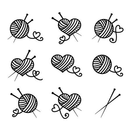 Stricken, schöner Vektor-Icon-Set
