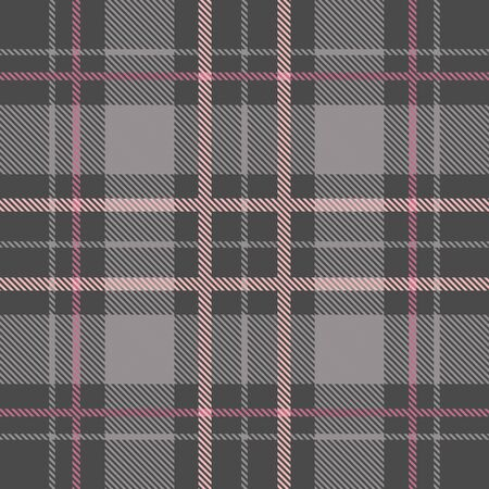 Beautiful checkered gray plaid pattern vector