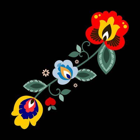 Polish folk decorative element vector