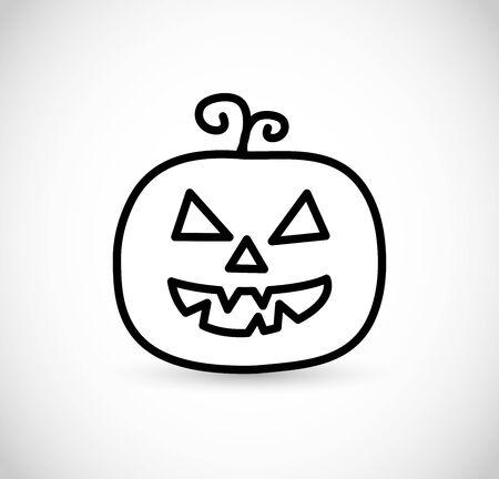 Halloween pumpkin icon thin line style VECTOR