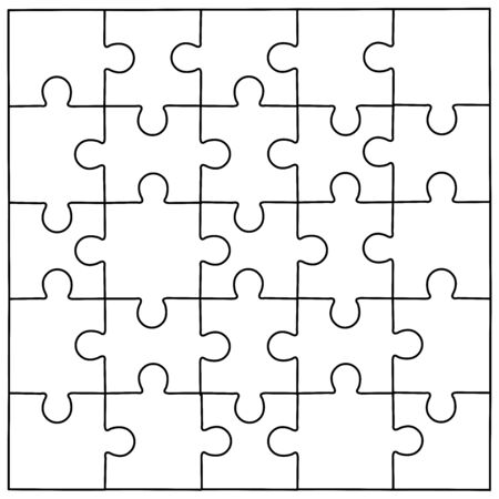 Puzzle template vector background layout