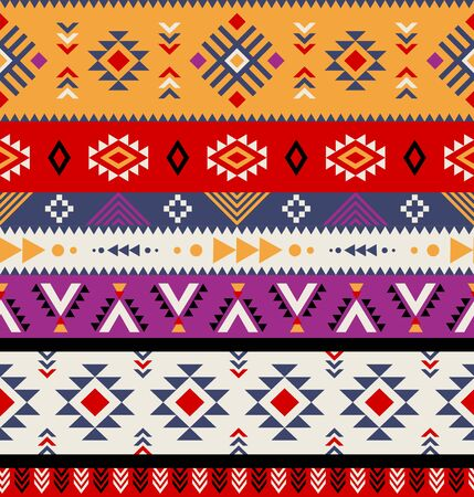 Aztec, tribal seamless pattern vector