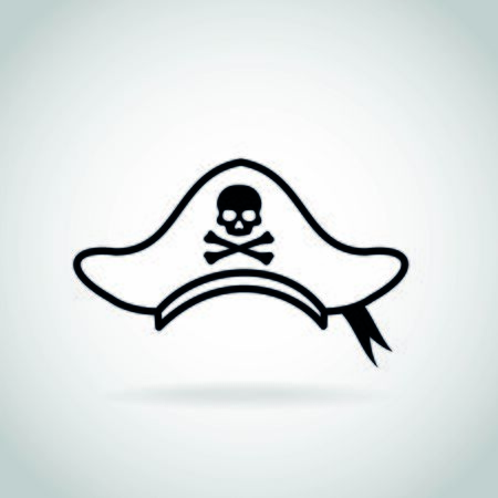 Pirate hat vector icon art