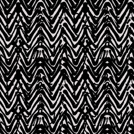 Messy zigzag fashion pattern, seamless vector