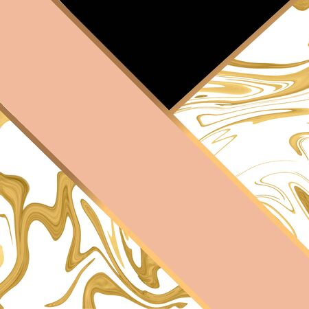 Beautiful marble with gold and pink vector template