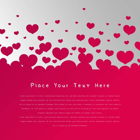Beautiful simple love background with copy space vector