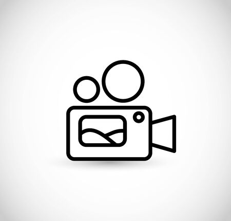 Video camera thin line style icon vector Illustration
