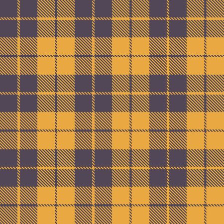 Mustard yellow checked plaid pattern vector