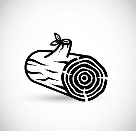 Log icon vector art illustration